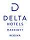 Corporate logo for Delta Hotels, featuring a simple letter D