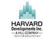 Logo for Harvard Developments featuring a sytlized outlines of a building