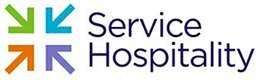 Service Hospitality corporate logo. Featuring a colourful sytlized star burst