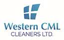 Corporate logo for Western CML Cleaners, featuring a stylized a window divided into four sections.