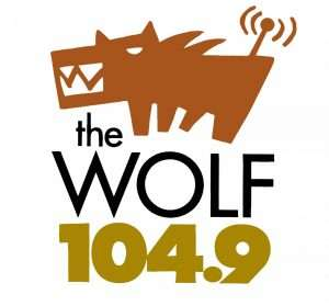 Logo for The Wolf 104.9