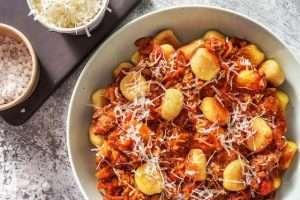 Image of a Hello Fresh meal - gnocchi bolognaise